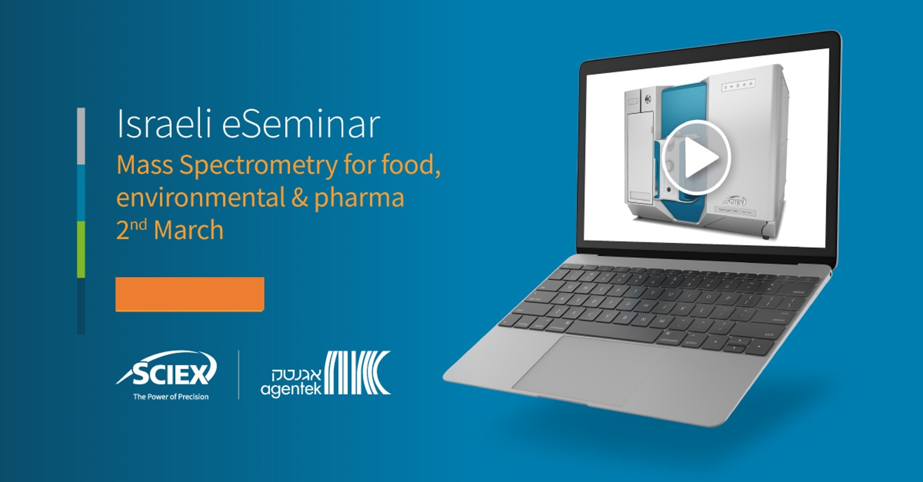 Thank you for joining us for Sciex e-Seminar on MS Spectrometry for food, environmental and pharma